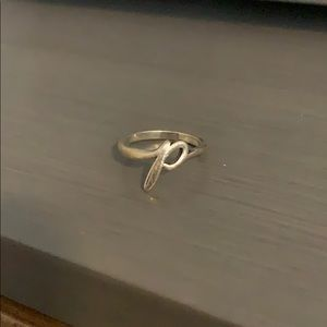 "Size 6 ""P"" initial ring"